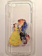 Disney Beauty And The Beast Clear Silicone Gel Case For iPhone 7 Or 8. Birthday