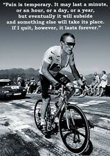 LANCE ARMSTRONG MOTIVATION POSTER RADIOSHACK LIVESTRONG