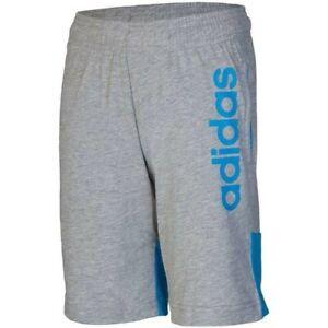 ADIDAS Boys Grey & Blue Tasto Jersey Shorts 9-10 11-12 Years BNWT