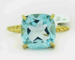 GENUINE 3.87 Cts BLUE TOPAZ RING 10K GOLD *** Free Certificate Appraisal ***