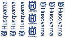 Husqvarna Motorcycle Decals Stickers Outline Graphic Vinyl Adhesive Blue 9 Pcs