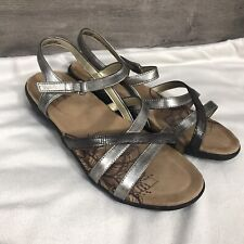 Soft Style by Hush Puppies Womens Size 9 Paityn Slingback Sandals Pewter