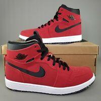 Nike Air Jordan 1 Zoom Air CMFT Gym Red Shoes Mens Size 8.5 Suede Black White