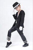 Kids Popstar Michael Jackson MJ King Pop Fancy Dress Costume Outfit 5 - 11 Years