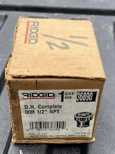 """RIDGID  OOR NPT 1/2""""  Die Head Complete  36890 Made In USA"""