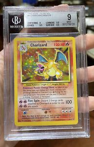 Charizard Holo Base Set Mint 9 BGS Pokemon #4