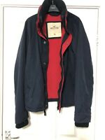 Hollister Navy Blue Jacket Mens Size XL Great Condition (D476)