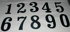 "3 NOS 1970s 5-1/2"" Black Number Plate Decals MX Motocross BMX Vintage AHRMA UPIK"