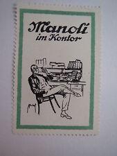 Manoli im Kontor - Zigaretten / Reklamemarke