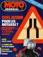 MOTO JOURNAL  578 Test GUZZI V65 SP KTM 240 GSPL Beta YAMAHA XV 1200 PARIS DAKAR