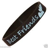 Best forever friend wristband silic bracelet/ wrist band bangle gift fashion lot