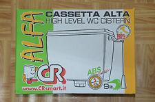 CASSETTA SCARICO WC ALTA  ESTERNA 9 LITRI  MOD.BETA  CON CATENELLA