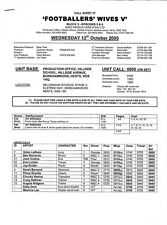 JOAN COLLINS - FOOTBALLERS' WIVES - SALE !!! - Orig CALL SHEET No.57 & Photo
