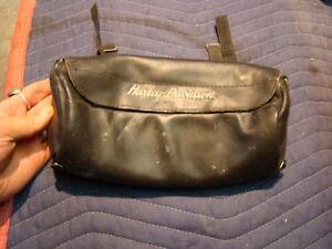 leather Harley tool bag luggage sissy bar pouch FXR Dyna Softail FL FXRT EP12289