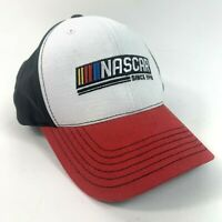 NASCAR Since 1948 Ball Cap Hat Hook And Loop Racing Black/White/Red Used