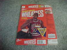 1991 Michael Jordan Chicago Bulls Wheaties Box with Fleer Basketball Sheet #7