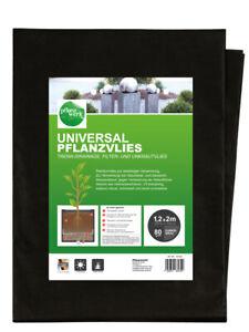 PFLANZWERK® Universal Vlies & Trenn-, Drainage- und Unkrautvlies 1,2x2m / 80g m²