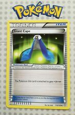 Pokemon card Giant Cape 114/124 Trainer Item Used Dragons Exalted