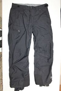 Columbia Mens Insulated Black Snow Ski Winter Waterproof Breathable Pants Size L