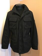 Brand New T-tech Tumi Hood In Collar Black Coat Jacket S Small Mens