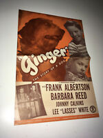 GINGER Vintage Movie Pressbook 1946 The Story of A Dog Family Drama Napoleon