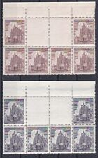 1944 B&M 140 + 141 Zwischensteg waagrecht mit Leerfeld Postfrisch ** MNH