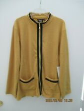 WOMEN'S PLUS SIZE CLOTHING Size 2X Onque Casual Gold Top/Sweater/Jacket New Tags