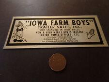 Sticker-IOWA FARM BOYS Trailer Sales,Glendale,CA.AZ.original IA=ProductsOverTime