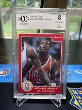 1984-85 Star Michael Jordan #195 BCCG 8 USA RC Gold