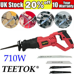 Reciprocating Saw Electric Power Tool Metal Wood Cutting Cutter With 4 Blades