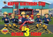 personalised birthday card Fireman sam any name/age/relation