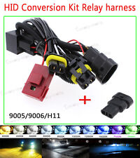 HID Anti Relay Wiring Harness For Xenon Conversion Kit H11H9 H8 9005 9006 HB6