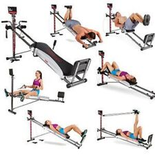 Home Exercise Total Gym 1400 Deluxe Fitness Machine with Workout DVD Folding