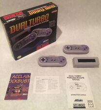 ULTRA RARE x2 wireless SNES controllers! Acclaim Dual Turbo Cleaned! Tested!