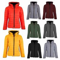 Ladies Womens Bubble Fur Collar Zip Padded Quilted Puffer Jacket Warm Parka Coat