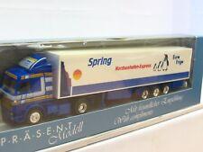 Albedo 1/87 Scania Koffersattelzug Spring Nordseehafen-Express OVP (TR9151)