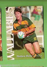 1996 RUGBY UNION  CARD #3 MATTHEW BURKE, WALLABIES