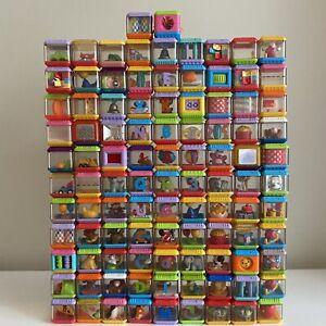 Huge Lot 101 Total Fisher Price Peek a Boo Blocks Sensory Baby Toddler Toys ABCs