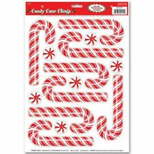 Candy Cane Clings Sheet Christmas Window Clings Holiday Party Decorations