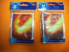 100ct Max Protection Deck Shuffle-Tech Sleeves - Inferno - Standard Cards