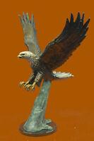 Art Deco Moigniez Extra Large Flying Eagle Bronze Sculpture Classic Artwork Sale