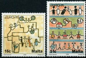 Malta Europa Stamps 2006 MNH Integration 2v Set