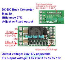 DC 5v~24v to 1.8v 3.3v 12v 2A Adjustable Buck Step down Voltage Regulator Module