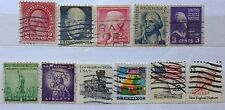 USA Used Stamps - 11 pcs Assorted Stamps
