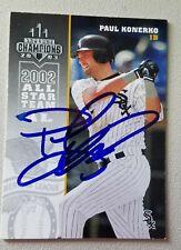 Autographed 2003 Donruss Champs Baseball Card - Paul Konerko - White Sox