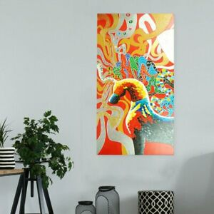 Modern Abstract Art Canvas Hand Painted Oil Painting Wall Art Framed - Phoenix