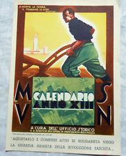 M.V.S.N.  -  PUBBLICITA CALENDARIO MILIZIA  Anno XIII