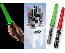STAR WARS LIGHT-UP Glowing Lightsaber Popsicle Ice Pop Maker 2 LUKE 2 VADER NEW