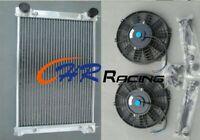 Aluminium Radiator & Fans VW MK 1 MK 2 Golf 8V GTI, 1.8 Carb & Scirocco 1.8 GLI