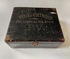 Ancienne Boîte de Mercerie - Fil au Chinois - Epoque 1900
